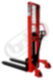 FX 10RL16Q - high-lift truck with hand und foot quick-lift-High-lift truck with hand and foot quick-lift, capacity 1000kg, lifting height 1600mm, overall fork width 550mm