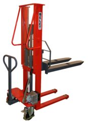 F 10RL - Fork-lift truck with manually operated lifting-Fork-lift truck, manually operated lifting, capacity 1000kg, overall fork width 540mm, lifting height 1600mm