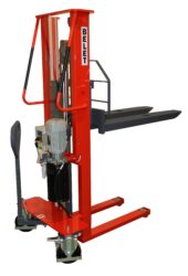 F 10ML - Fork-lift truck with motor lifting-Fork-lift truck, motor lifting, capacity 1000kg, overall fork width 540mm, lifting height 1600mm
