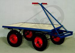JK 500 - plošinový vozík-Plošinový vozík, nosnost 500 kg, rozměr ložné plochy 800x1200 mm