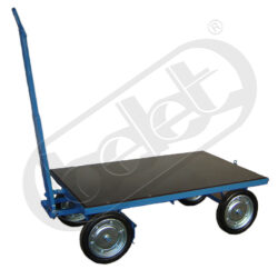JK 1500 - plošinový vozík-Plošinový vozík, nosnost 1500 kg, rozměr ložné plochy 1600x1000 mm