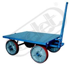 JK 2000 - plošinový vozík-Plošinový vozík, nosnost 2000 kg, rozměr ložné plochy 1600x1200 mm