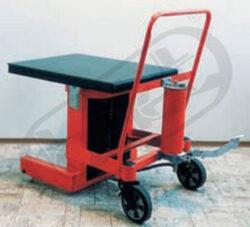 ZP 10N - zdvižná plošina - nožní-Zdvižná plošina, hydraulická - nožní, nosnost 1000 kg, max.zdvih 1300 mm