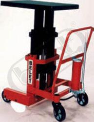 ZP 10R - zdvižná plošina - ruční-Zdvižná plošina, hydraulická - ruční, nosnost 1000 kg, max. zdvih 1300 mm