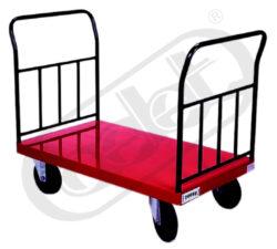 OPRO 502/I/S - transportní vozík-Transportní vozík, nosnost 500 kg, rozměr ložné plochy 650x900 mm, provedení kol - standart pr. 200 mm
