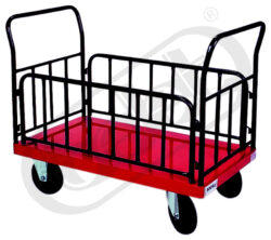 OPRO 501/II/B - transportní vozík-Transportní vozík, nosnost 500 kg, rozměr ložné plochy 650x1120 mm, provedení kol - bantam pr. 260