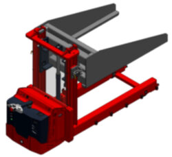 Furnace stackers - 	Manual drive  or battery powered hydraulic stackers. The furnace stackers are adapted to the respective industrial furnace. Loads ut to 10t are not out of the ordinary to us.