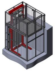 Zakázkové výrobky - mezipatrové plošiny-Mezipatrové zdvižné plošiny a vyrovnávací můstky.