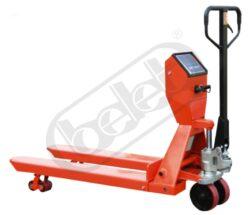 NF 20NLSP - nízkozdvižný paletový vozík s váhou a tiskárnou-Ruční paletový vozík s tiskárnou a váhou, nosnost 2000 kg, šířka vidlic 570 mm, nabírací délka vidlic 1200 mm