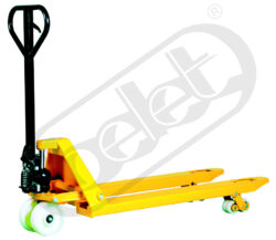 NF 20DF PA - Low-lift pallet truck-Low-lift pallet truck, capacity 2000kg, overall fork width 550mm, tandem wheels from polyamide