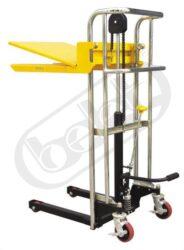 LFCX 0412 - vysokozdvižný vozík s nožním zdvihem-vysokozdvižný vozík s ručním zdvihem, nosnost 400kg, max. zdvih 1115 mm
