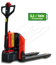 NFX 15AP/Lio - Electric pallet truck with - Low-lift pallet truck with electric travel and Li-Ion battery, capacity 1500kg, lifting height 200mm, overall fork width 540mm