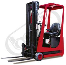 AVE 6/AC, čelní akumulátorový vysokozdvižný vozík-Čelní akumulátorový vysokozdvižný vozík s nosností 600 kg, tříkolový