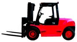 DV 60BVAT - čelní motorový vozík, nosnost 6000 kg-Čelní motorový vozík s nosností 6000 kg a dieselovým motorem MITSUBISHI