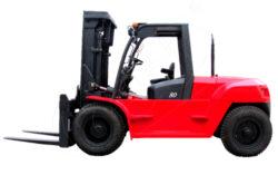 DV 80BVAT - čelní motorový vozík, nosnost 8000 kg-Čelní motorový vozík s nosností 8000 kg a dieselovým motorem PERKINS