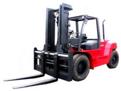 DV 100BVAT, čelní motorový vozík, nosnost 10000kg, 16000kg-Čelní motorový vozík s nosností 10000, 16000 kg a dieselovým motorem PERKINS