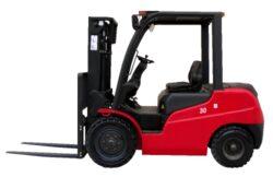 MV 25BVB, čelní motorový vozík, nosnost 2500 kg-Čelní motorový vozík, nosnost 2500kg, s benzinovým motorem Mitsubishi