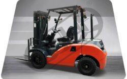 MV 35BVT, Čelní motorový vozík, nosnost 3500kg-Čelní motorový vozík s nosností 3500 kg a benzinovýn motorem NISSAN