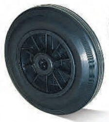Kolo SGK-160-40-60-R20-Standardní plnopryžové kolo s plastovým diskem a válečkovým ložiskem.