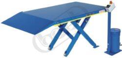 Ergo-G 1200 - zdvihací stůl - plochý pro práci s europaletami-Zdvihací stůl - plochý pro práci s europaletami, nosnost 1200 kg, max.zdvih 670 mm, deska stolu 1400x900 mm