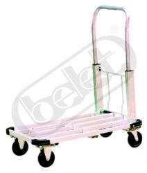 JGC 150 GAL - plošinový vozík - hliníkový-Plošinový vozík, hliníkový, nosnost 150 kg, rozměr ložné plochy 500x418x27 mm