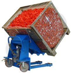 BN 1000 - plošinový vozík - sklopný-Plošinový vozík - sklopný, nosnost 1000 kg, nožní pumpa