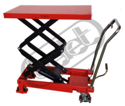 ZPX 35D - Table truck, foot operated - Table truck foot operated, capacity 350kg, lifting height 1300mm, table dimensions 910x500mm