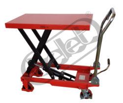 ZPX 50 - zdvižná pracovní plošina s nožním ovládáním-Zdvižná pracovní plošina s nožním ovládáním, nosnost 500 kg, max. zdvih 880 mm, rozměr ložné plochy 815x500 mm