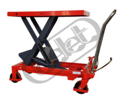 ZPX 75 - Table truck, foot operated - Table truck foot operated, capacity 750kg, lifting height 990mm, table dimensions 1000x510mm