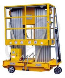 AWP8.2000 - zdvižná pracovní plošina, vysokozdvih-Zdvižná pracovní plošina, vysokozdvih, duplex, nosnost 300 kg, max.zdvih 8000mm, rozměr ložné plochy 1200x600 mm