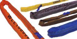 CL-R-08/1/2 - vinutá smyčka 1m-Vinutá smyčka s tkaným krycím obalem a podélně zatkaným vláknem, délka 1 m, nosnost 8000 kg
