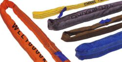 CL-R-10/1/2 - winded sling 1m-Winded sling with woven cover and lengthwise smashed staple, length 1m, capacity 10000kg