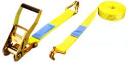 SY-RTD50-200 - upínací pás s ráčnou LC 2000Kg - 8m-Dvoudílný upínací popruh s ráčnou z polyesterových vláken, celková délka 8m, max. zatížení 4000 kg