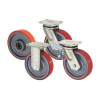 Wheels, rollers and conveyors